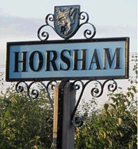 Horsham Road Sign