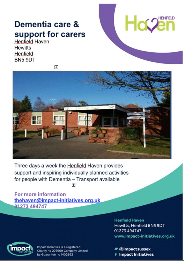 Henfield Haven Dementia Care Poster