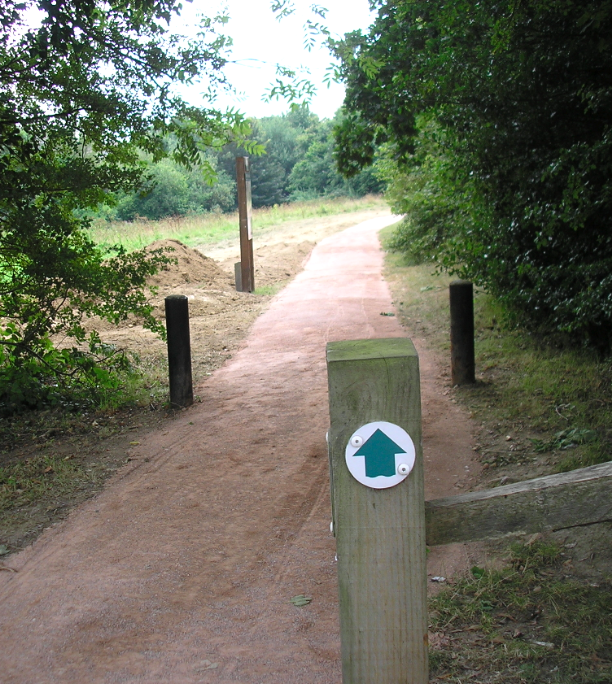 Newly resurfaced Riverside WAlk at Warnham Road
