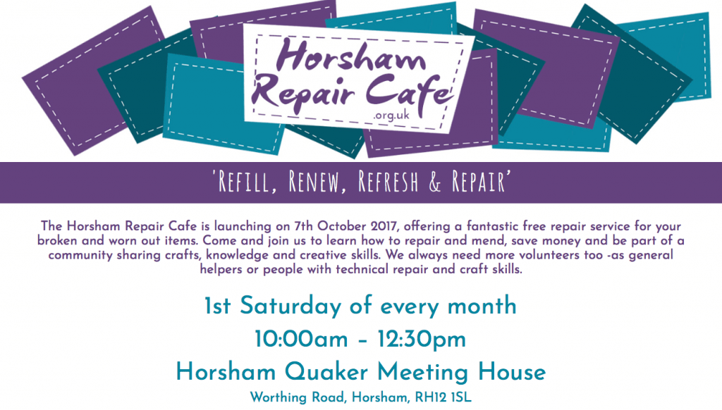 Horsham Repair Cafe Home Page