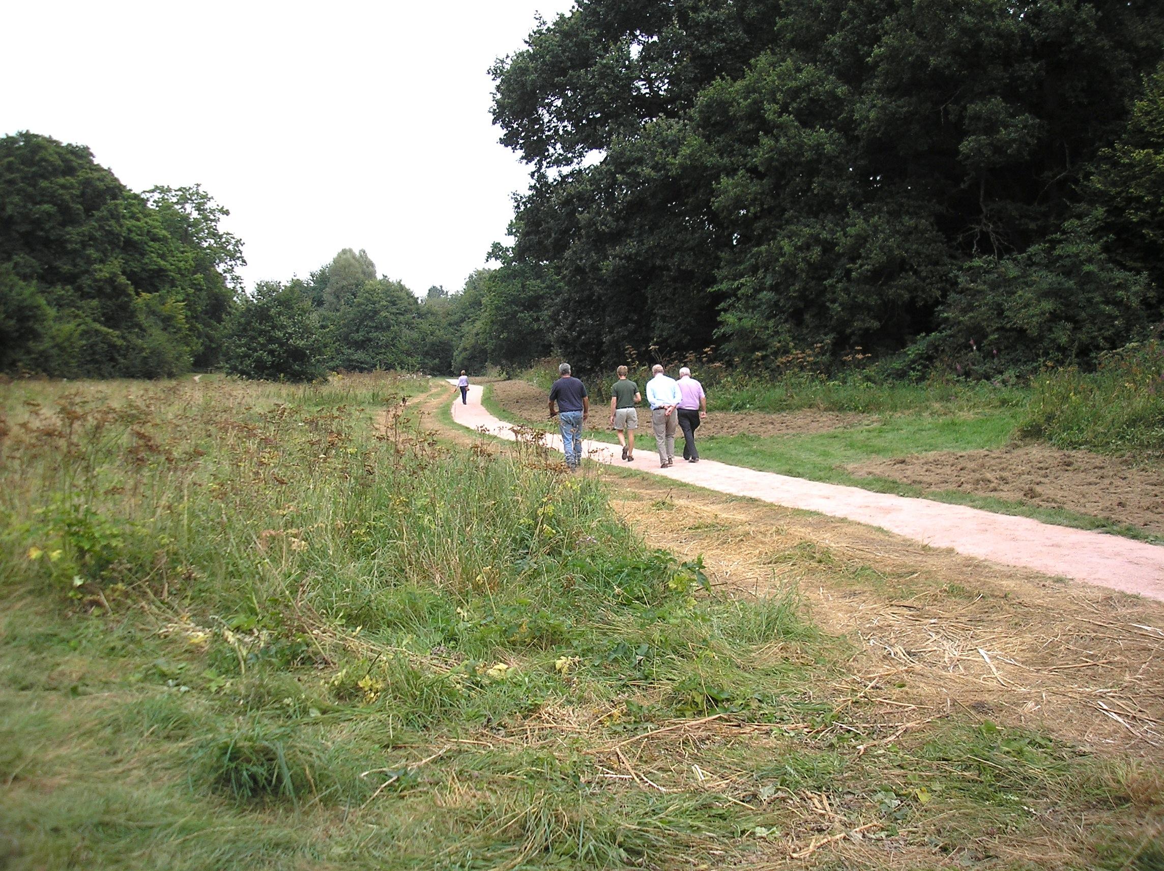 Newly resurfaced Riverside Walk near Warnham Road
