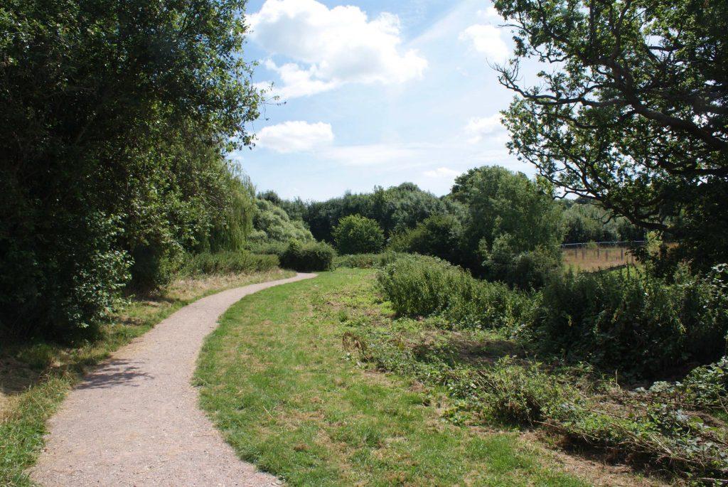 Horsham Riverside Walk near Hills Farm Lane