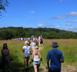 Crossing Gravel Pit Field at Chesworth Farm