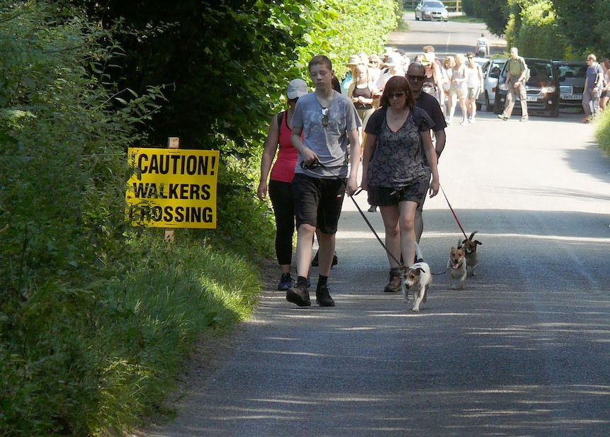 Walkers in Kerves Lane