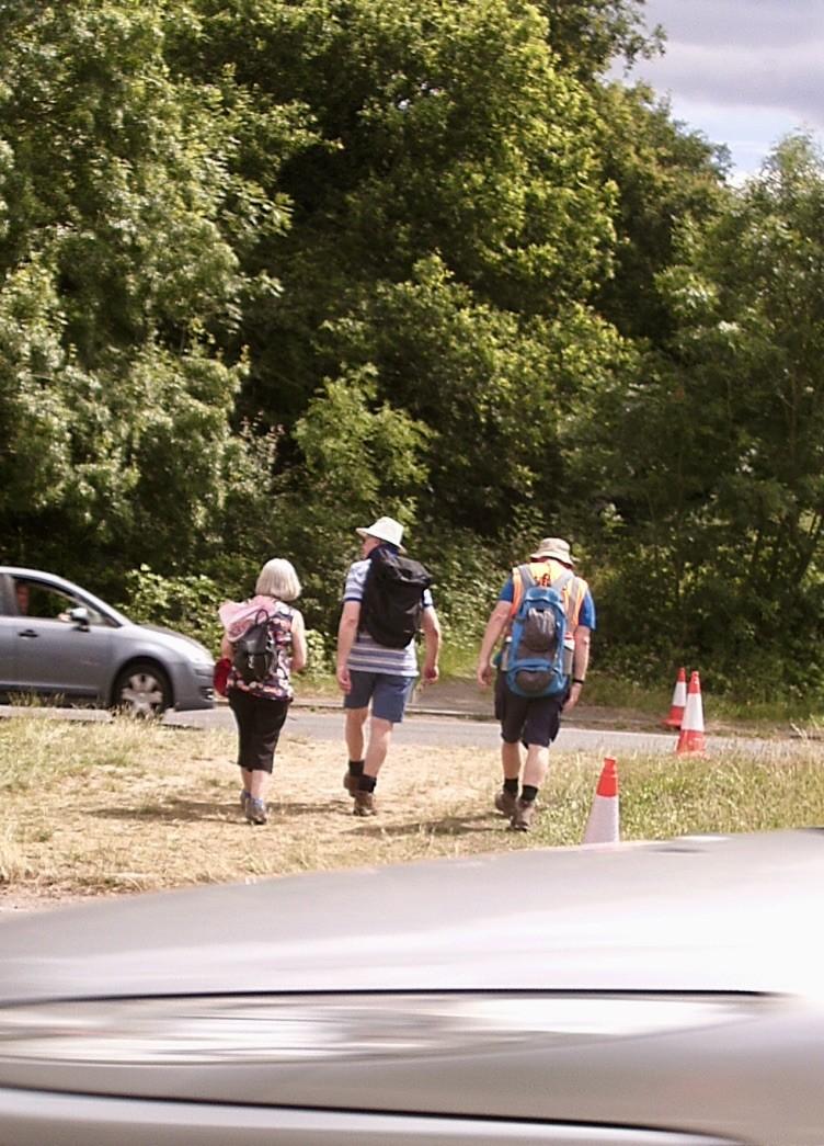 Walkers Crossing A264. Courtesy Julian Thompson.