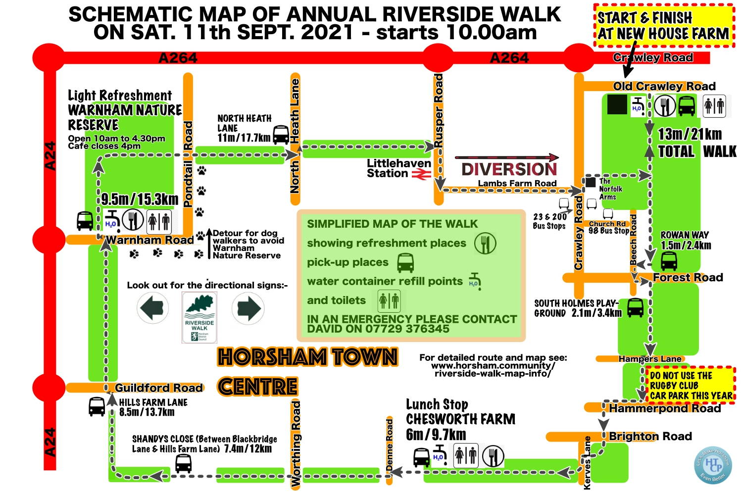 Brief Map of 2021 Walk Event